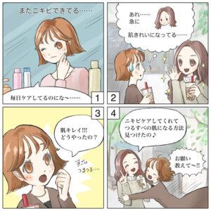 ニキビ用商材広告漫画