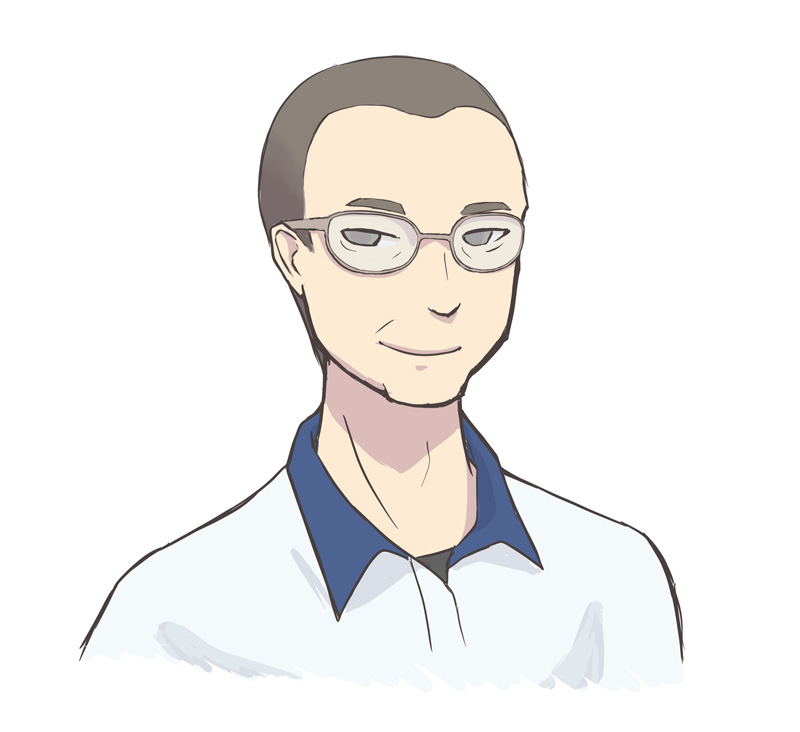 社員 似顔絵 コミックタッチ